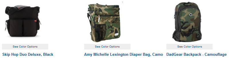camo diaper backpacks