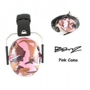 Baby Banz Hearing Protector Earmuffs, Camo Pink