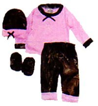 Bonnie & Childrens Long Sleeve Tee Shirt Set Pink 3 - 6 Months