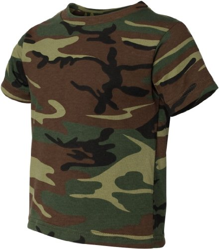 Code V - Toddler Camo T-shirt - 3315 - Green Woodland - 4T