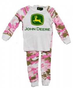 John Deere Infant/Toddler Pajama Set Pink Camo (18 Month)