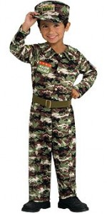 Toddler Camo Army Soldier Costume