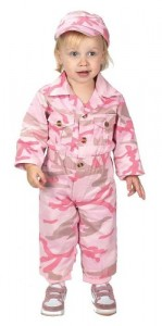 Aeromax Jr. Camouflage Suit with Cap, Size 18Month, Pink