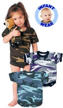 66055 Infant Woodland Camo One Piece Body Suit (Size 12-18 Months)