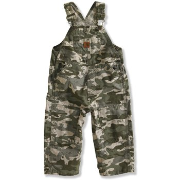 Carhartt Baby-Boys Infant Washed Ripstop Bib Overall, Green Camo, 6 Months