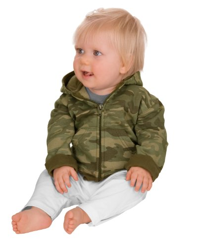 Precious Cargo Infant Full Zip Hoodie - 06 Months - Military Camo