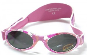Adventure BanZ Baby Sunglasses, Pink Diva Camo,  0-2 Years