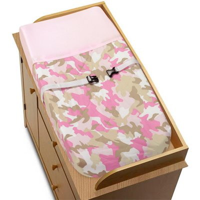 JoJo Designs Changing Pad Cover - Pink and Khaki Camo Army Camouflage