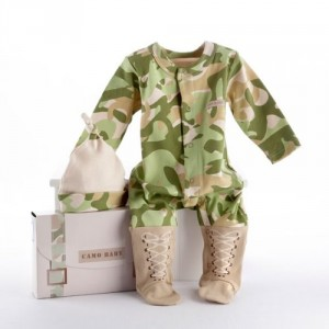The Baby Soldier Baby Dreams Army Theme Baby Clothing Gift Set - 3 Piece | New Arrival Baby Gift
