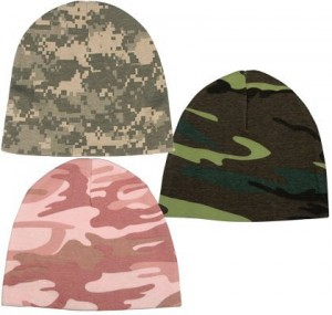 5045 INFANT CRIB CAPS (PINK CAMO)