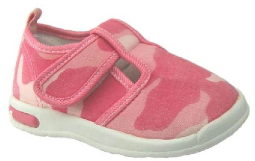Pip Squeakers Squeaky Shoes, Pink Camo, Size 7 XW US Toddler