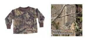 Bell-Ranger 'Lil Joey All Purpose Green HD Camo Toddler Long Sleeve Shirt - 2T