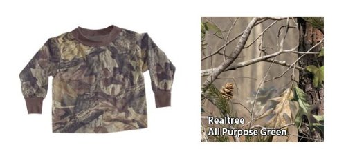 Bell-Ranger 'Lil Joey All Purpose Green HD Camo Toddler Long Sleeve Shirt - 2T
