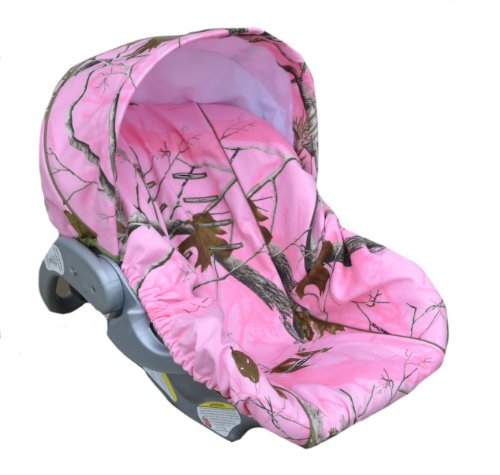 Infant Car Seat Cover, Baby Car Seat Cover, Slip Cover-Pink Camo!