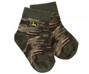John Deere Toddler Camo Crew Socks 12-24 Month
