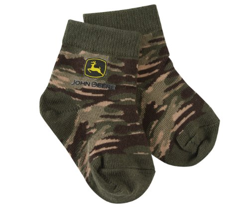 John Deere Toddler Camo Crew Socks 12-24 Month