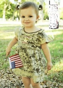 "U.S. Marines Desert Camo ""Little Miss Semper Fi"" Dress Baby / Child (9-12 MONTHS)"