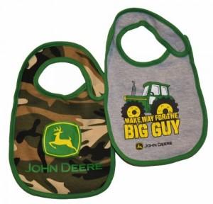 John Deere 2 Piece Baby Green Camo Bib Set