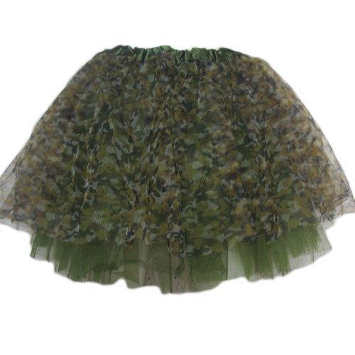 Green Camo - Ballet Princess Fairy Ballerina Dress-Up Tutu for Baby Toddler Girls