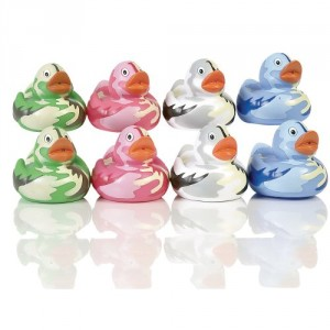 Elegant Baby 8 Piece Bath Squirties Gift Set in Vinyl Zip Bag - Camouflage