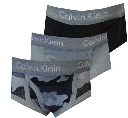 Calvin Klein Toddler Gray Camo 3 Pack briefs for boys (4T)
