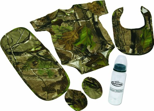 Rivers Edge 5-Piece Real Tree APG Camouflage Baby Gift Set For The Littlest of Outdoor Lovers