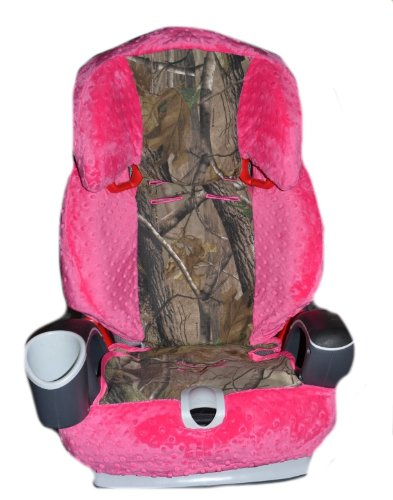 Graco Nautilus 3-1 Car Seat Cover, Toddler Car Seat Cover- Camo & Fuchsia Minky!