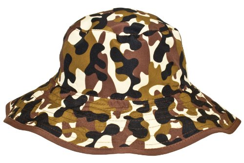 Baby BanZ UV Reversible Bucket Hat, Brown Camo, 2-5 Years