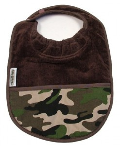 Silly Billyz Towel Pocket Bib, Chocolate Camo, 3 mos - 3 Yrs