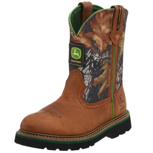 John Deere Kids 188 Boot (Toddler/Little Kid/Big Kid),Tan/Camouflage,8.5 M US Toddler