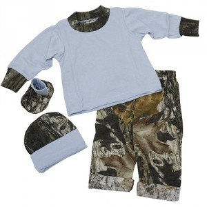 Bonnies Boys Baby Mossy Oak/Blue Gift Set 3-6M